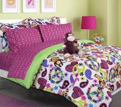 Girls Pink And Black Bedding by Amazon Com Teen Tween Girls Kids Bedding Fabian Monkey Bed In A