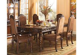 Dark Wood Dining Room Table North Shore Dining Room Table Ashley Furniture Homestore