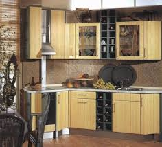 kitchen medium sized bamboo kitchen cabinet design with wine rack