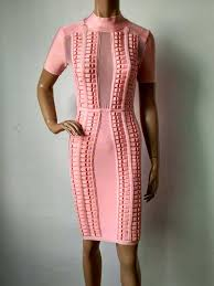 factory wholesale new dress pink short sleeved high end luxury