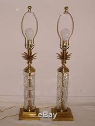 Frederick Cooper Table Lamps by Pair Vintage Frederick Cooper Cut Crystal U0026 Brass Table Lamps