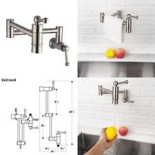 Pot Filler Kitchen Faucet Single Kitchen Faucet Stainless Steel Pot Filler Brushed