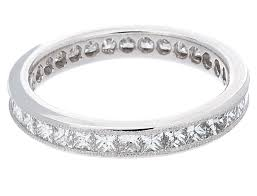white gold eternity ring channel set princess cut diamond eternity band ring in 14k white