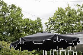 Poles For String Lights by Create Outdoor Patio Lighting Without A Pergola Renter Friendly