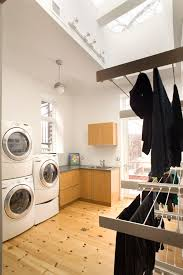 front load washer fan dish drying rack technique chicago contemporary laundry room