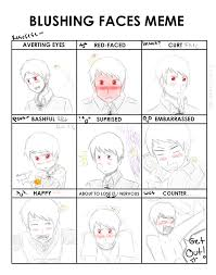 Blushing Meme - blushing faces meme mr awesome by zee the geek on deviantart