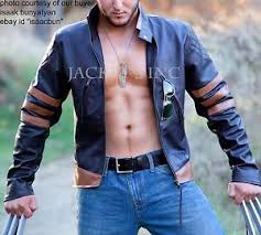 x men origins logan wolverine brown leather jacket halloween