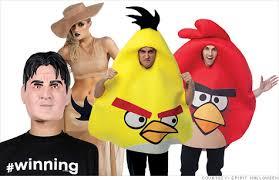 Angry Birds Halloween Costume Charlie Sheen Wins Popular Halloween Costume 2011 Oct