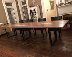 Walnut Dining Room Furniture Walnut Dining Table Etsy