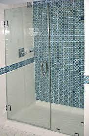 square bathtub design beside shower sliding glass shower door soft