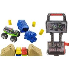 monster jam toys trucks wheels monster jam crash u0026 carry arena play set walmart com