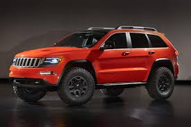 jeep grand cherokee red interior 2013 jeep grand cherokee trailhawk ii concept pictures news