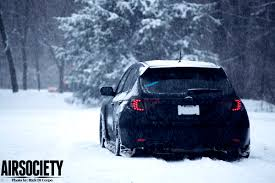 subaru rally wallpaper snow subaru sti te 37 te37 bagged air suspension snow airsociety 011