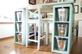 Craft Room Storage Furniture - desk black craft table with storage diy craft table with storage