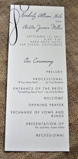 one page wedding program 200 vintage tea length wedding programs