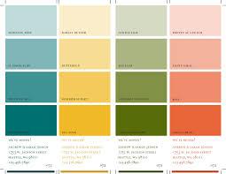 four color paint swatch sheet