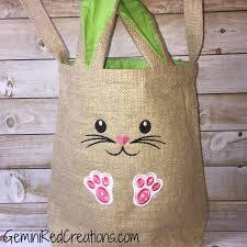 easter bags burlap bunny easter bag geminired creations