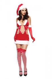 womens santa costume womens cut out backless fur christmas santa costume