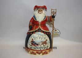 jim shore dashing to a merry celebration lapland santa sleigh