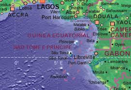 map of sao tome of sao tome and principe