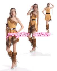 Womens Pocahontas Halloween Costumes Cheap Indian Halloween Costumes Aliexpress