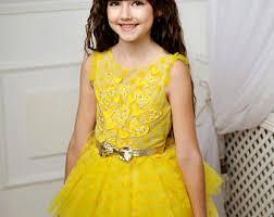 yellow tutu dress etsy