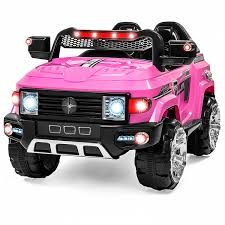 light pink audi amazon com best choice products 12v mp3 kids ride on truck car r