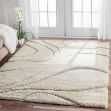 Ivory Area Rug Nuloom Soft And Plush Ivory Beige Shag Area Rug 9 2 X 12