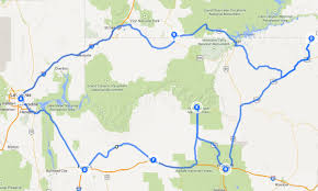 road trip map of usa 6 days in southwest usa road trip itinerary
