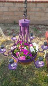 Red Solar Lights by Flowers Chandelier With Solar Lights Landscaping Pinterest