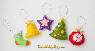 handmade by helga assorted felt tree ornaments