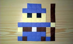 origami pixels wizard by ladislav kaňka