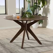 mid century modern round dining table mid century modern kitchen dining room tables for less overstock com