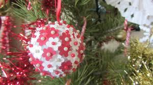 christmas ornament syrofoam ball paper flowers push pins youtube