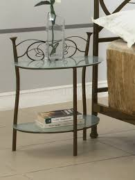 Small Bedside Table Bedrooms White Bedside Table Wood Metal Nightstand Small