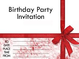 card invitation design ideas red ribbon birthday invitation card