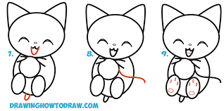 coloring pages easy kittens to draw easy to draw kittens step by