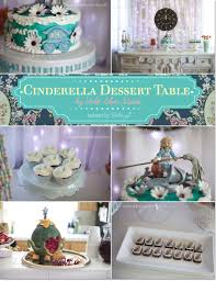 cinderella themed dessert table