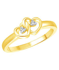 vighnaharta dual heart ring with initial u0027 u0027r u0027 u0027 letter pendant gold