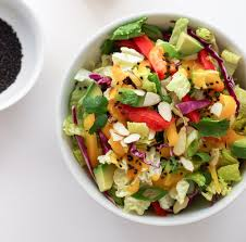 asian rainbow salad spicy mango dressing the simple veganista