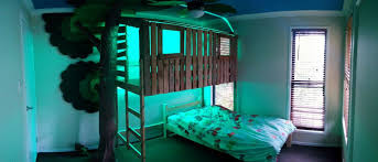 DIY Bunk Bed Plans  Ideas That Will Save A Lot Of Bedroom Space - Treehouse bunk beds