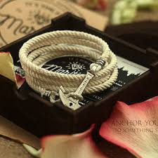 rope bracelet with anchor images Best nautical rope anchor bracelet products on wanelo jpg