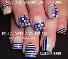 robin moses nail art baby shower nails polka dots and stripe