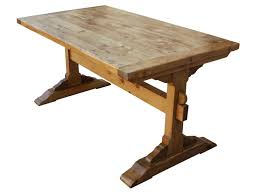 Trestle Dining Room Table by Santa Barbara Dining Trestle Table Built In Reclaimed Lumber
