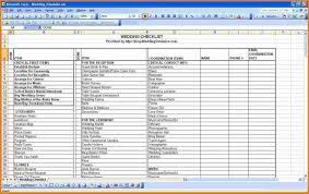 Wedding Guest List Excel Template Wedding Guest List Spreadsheet Template