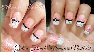 nail art french manicure nail art designs glitter design youtube