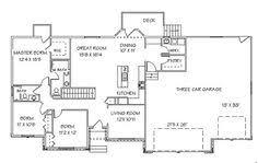 ranch with walkout basement floor plans ranch style house plans walkout bat