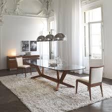 tavoli di cristallo sala da pranzo tavolo in cristallo e legno goblin di cattelan arredaclick