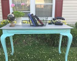 Shabby Chic Writing Desk by Painted Sofa Table Etsy