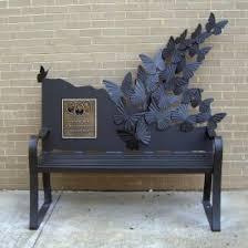 Butterfly Bench Public Art Benches Oak Hill Iron